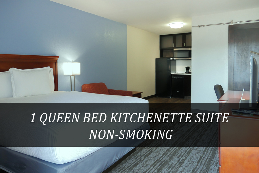 1 QUEEN BED KITCHENETTE SUITE NON-SMOKING